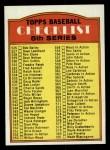 1972 Topps #478 SM  Checklist 5 Front Thumbnail
