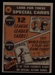 1972 Topps #38   -  Carl Yastrzemski In Action Back Thumbnail