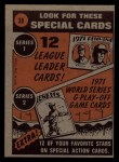 1972 Topps #38   -  Carl Yastrzemski In Action Back Thumbnail