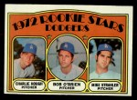 1972 Topps #198   -  Charlie Hough / Bob O'Brien / Mike Strahler Dodgers Rookies   Front Thumbnail