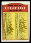 1972 Topps #478 SM  Checklist 5 Front Thumbnail