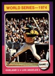 1975 Topps #461   -  Reggie Jackson 1974 World Series - Game #1 Front Thumbnail