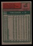 1975 Topps #580  Frank Robinson  Back Thumbnail