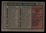 1975 Topps #487   -  Preston Gomez Astros Team Checklist Back Thumbnail