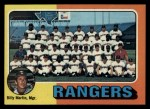 1975 Topps #511   -  Billy Martin Rangers Team Checklist Front Thumbnail