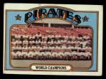 1972 Topps #1   Pirates Team Front Thumbnail