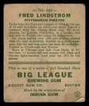 1933 Goudey #133  Freddy Lindstrom  Back Thumbnail