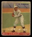 1933 Goudey #35  Al Simmons  Front Thumbnail