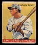 1933 Goudey #184  Charley Berry  Front Thumbnail