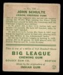 1933 Goudey #186  John Schulte  Back Thumbnail