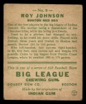 1933 Goudey #8  Roy Johnson  Back Thumbnail