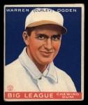 1933 Goudey #174  Warren Ogden  Front Thumbnail