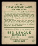 1933 Goudey #208  Bernie James  Back Thumbnail
