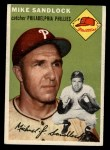 1954 Topps #104  Mike Sandlock  Front Thumbnail
