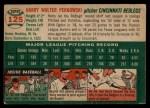 1954 Topps #125  Harry Perkowski  Back Thumbnail