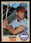 1968 Topps #289  Woodie Held  Front Thumbnail