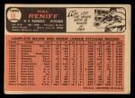1966 Topps #68  Hal Reniff  Back Thumbnail
