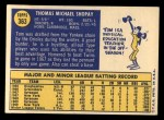 1970 Topps #363  Tom Shopay  Back Thumbnail