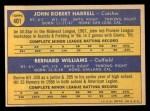 1970 Topps #401   -  John Harrell / Bernie Williams Giants Rookies Back Thumbnail