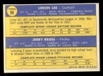 1970 Topps #96   -  Leron Lee / Jerry Reuss Cardinals Rookies Back Thumbnail