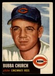 1953 Topps #47  Bubba Church  Front Thumbnail