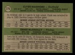 1971 Topps #376   -  Clyde Mashore / Ernie McNally Expos Rookies Back Thumbnail