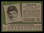 1971 Topps #100  Pete Rose  Back Thumbnail