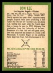 1963 Fleer #18  Don Lee  Back Thumbnail