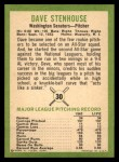 1963 Fleer #30  Dave Stenhouse  Back Thumbnail