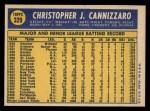 1970 Topps #329  Chris Cannizzaro  Back Thumbnail
