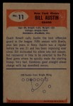 1955 Bowman #11  Bill Austin  Back Thumbnail