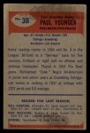 1955 Bowman #38  Tank Younger  Back Thumbnail