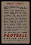 1951 Bowman #96  Ernie Stautner  Back Thumbnail