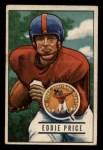 1951 Bowman #127  Eddie Price  Front Thumbnail