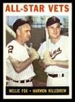 1964 Topps #81   -  Nellie Fox / Harmon Killebrew All-Star Vets Front Thumbnail