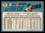 1965 Topps #281  Bill Stafford  Back Thumbnail