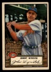 1952 Topps #13 BLK John Wyrostek  Front Thumbnail