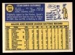 1970 Topps #269  Cesar Gutierrez  Back Thumbnail
