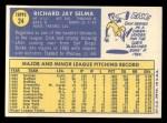 1970 Topps #24  Dick Selma  Back Thumbnail