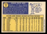 1970 Topps #33  Don Wert  Back Thumbnail