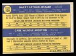 1970 Topps #109   -  Carl Morton / Garry Jestadt Expos Rookies Back Thumbnail