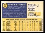 1970 Topps #161  Richie Scheinblum  Back Thumbnail