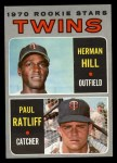 1970 Topps #267   -  Herman Hill / Paul Ratliff Twins Rookies Front Thumbnail