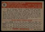 1952 Topps #82  Duane Pillette  Back Thumbnail