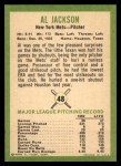 1963 Fleer #48  Al Jackson  Back Thumbnail
