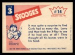 1959 Fleer Three Stooges #14   I Tell You Humans have 13 ribs Back Thumbnail