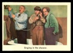1959 Fleer Three Stooges #46   Singing in the Shower.  Front Thumbnail
