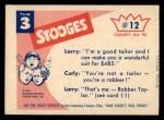 1959 Fleer Three Stooges #12   Hold Still  Back Thumbnail