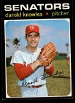 1971 Topps #261  Darold Knowles  Front Thumbnail