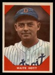 1960 Fleer #69  Waite Hoyt  Front Thumbnail